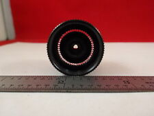 MICROSCOPE PART OBJECTIVE 1X + FIBER GLASS GUIDE OPTICS AS IS #AM-20