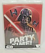 Disney Star Wars Darth Vader 8 Birthday Party Invitations & 8 Red Envelopes