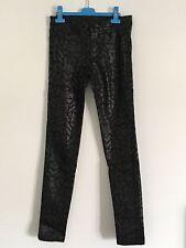 Pantaloni jeans skinny neri con stampa donna *NUOVI* - Taglia 36 - H&M
