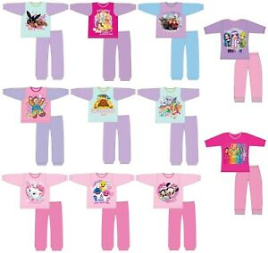 Girls Character Pyjamas PJs Size Age 12 Months to 10 Years Official Licensed