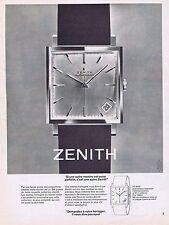 PUBLICITE ADVERTISING 114 1963 ZENITH montre