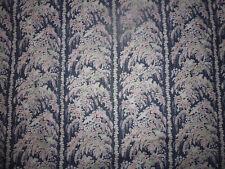 ancien tissu textile ameublement Marignan coton imprimé oiseau année 80