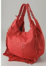 MADEWELL 1937 Red Hot Leather Fringe Hippie Hobo Shoulder Bag $198 NWT Sold Out