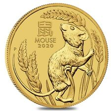 2020 1 oz Gold Lunar Year of The Mouse / Rat BU Australia Perth Mint In Cap