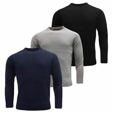 ✔✔Men,s Plain Sweatshirt  Knitwear Sweater Jumper Crew Neck Long Sleeve Tops✔✔