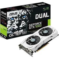 ASUS DUAL-GTX1060-O3G GeForce GTX 1060 3GB GDDR5 Dual-Fan OC Edition Video Card