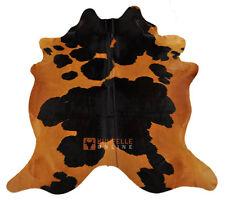 Premium Cow fur Bull fur Brown Black Colored 215 x 180 Cm