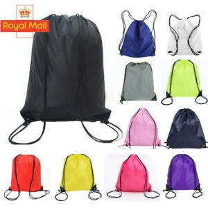 Drawstring Bags Backpack Waterproof Gym BAG Swim School Sports Shoe Dance Girls