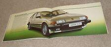 Rover SD1 Range Brochure 1982 - 2000 2300 2300S 2600S 3500SE & Vanden Plas