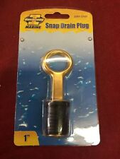 """1"""" Rubber Brass Snap Flip Style Boat Hull Livewell Drain Plug Bass Tracker Lowe"""