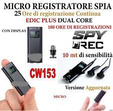 MICRO REGISTRATORE AUDIO VOCALE CON DISPLAY 8 GB SPY MINI AMBIENTALE USB CW153