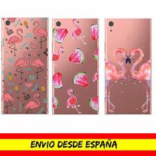 Funda Movil Sony Xperia / Flamencos Flamingo Gel Dibujo Transparente