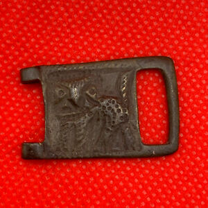 Rare Ancient Bronze Viking Buckle Animal Kievan Rus