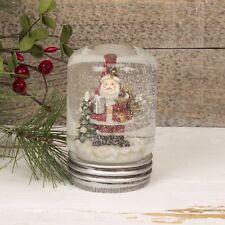 Father Christmas Lidded Jar Snowglobe Decoration - Novelty Lidded Snow Globe