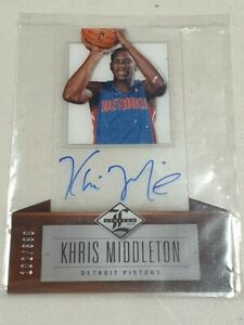 2012-13 Limited Khris Middleton RC Diecut Acetate Auto card/399 -Detroit Pistons