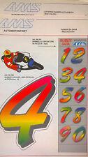 Numeri Adesivi Colorati Misura 15 cm Numeri Da Gara Per Scooter/moto/kart