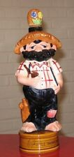 "* Moonshine Beard Hillbilly Redneck  Figural 13.5"" Musical Liquor Decanter"