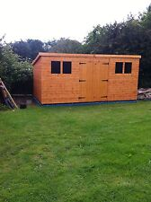 """*12x12 pent d/d 13mm t+g including roof 3""""X2"""" frame 1""""thick floor free erect *"""