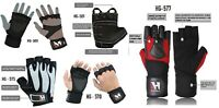 BODY BUILDING GYM FITNESS LEATHER CROSS FIT POWER WORKOUT WEIGHT LIFTING GLOVES