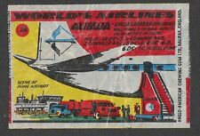 Anglo Wax Wrapper Worlds Airlines #24 Alitalia - Lineas Aereas Italiane