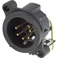5 Pin Receptáculo XLR Macho, Conectores Neutrik NC5MAH horizontal de montaje PCB