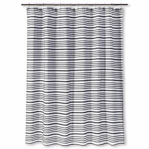 Multi-Stripe Shower Curtain - Ebony - Threshold™ new in package