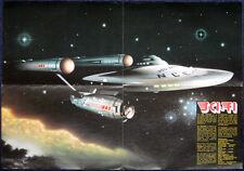 STAR TREK POSTER . ENTERPRISE ILLUSTRATION BY JOE PETAGNO . 1A