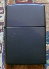 PLAIN REGULAR BLACK MATTE ZIPPO LIGHTER FREE P&P FREE FLINTS