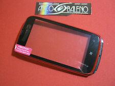 Kit Vetro Touch screen per Display NOKIA LUMIA 610 Vetrino Rosso Cover frontale