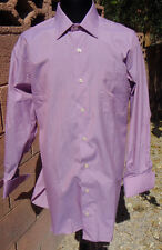 New Roger Talbot Electric Purple French Cuff 16/32 Spread Collar Tailored Shirt