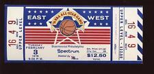 1976 NBA All Star Game Unused Full Ticket @ Philadelphia 76'ers NM