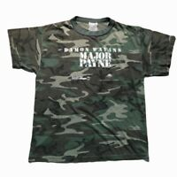 Major Payne VTG 90's 1995 Movie Camo T-Shirt. Authentic 1995 Movie Promo T-Shirt