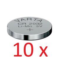 10 x Original VARTA CR2032 3V Lithium Knopfzelle Batterie CR 2032 10 Stück TOP