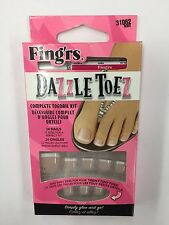 Fingrs Dazzle Toez Complete Toenail Kit 24 Nails (NEW)