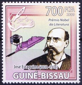 Nobel Literature winner Spanish Engineer Jose Eizaguirre, Guinea Bissau 2009 MNH