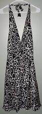 White House Black Market Halter Dress Silk Womens Size 4