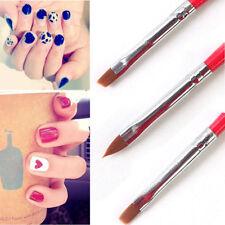 3Pcs UV Gel Acrylic Design Builder Drawing Painting Nail Art Tips Pen Brush