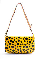 Louis Vuitton Womens Monogram Vernis Dots Infinity Pochette Handbag Yellow Black