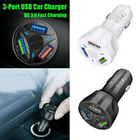 Auto Car Charger Adapter LED Display QC 3.0 Fast Charging for iPhone 8 X Samsung