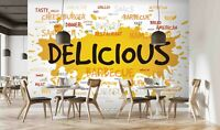 3D Food Poster Self-adhesive Removeable Wallpaper Wall Mural Sticker 916