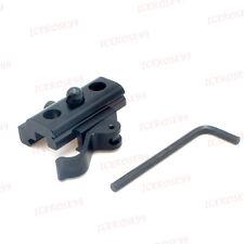 Quick Release Black Bipod Sling Swivel Adapter w/Weaver Picatinny Rail mount