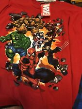 Marvel Vintage Tee Spider-Man Captain America Thing Daredevil Hulk