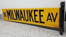 Porcelain Enamel Chicago Street Sign N. Milwaukee Av