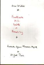 Oscar Wilde,Ballade de la géole de Reading Nizet 1975