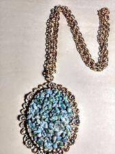 Vintage Aqua Stone Necklace