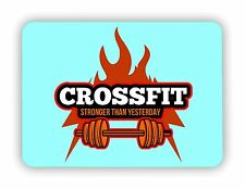 Crossfit Stronger Than Yesterday Workout GYM FITNESS METAL SIGN PLAQUE Poster