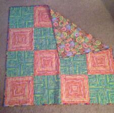 Handmade Quilt - Reversible, Tropical Colors