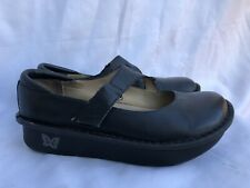 Alegria by PG Lite Black Patent Leather Mary Janes Comfort Shoes Womens 37 USA 6