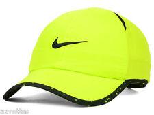 NEW! Yellow/Black NIKE Men-Women Tennis/Golf DRI-FIT Runner Cap Featherlight Hat