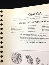 Vintage Omega Spare Parts Guide from 1957 shows Omega watch 267 parts & numbers